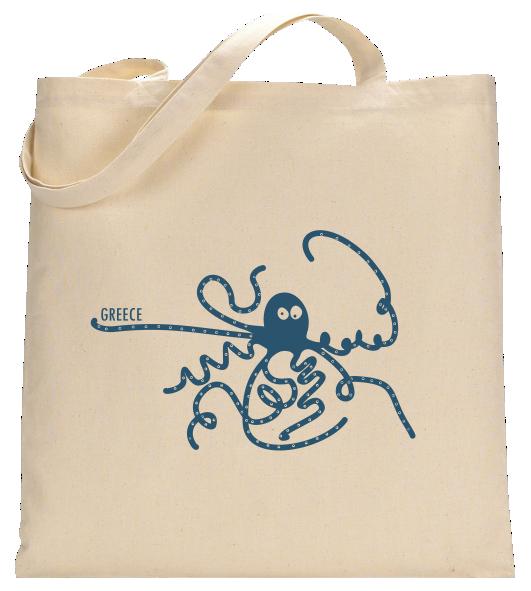 Mykonos Tasche mit Pelikan